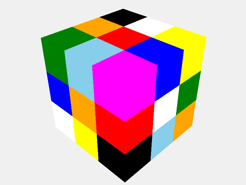 Solved cube